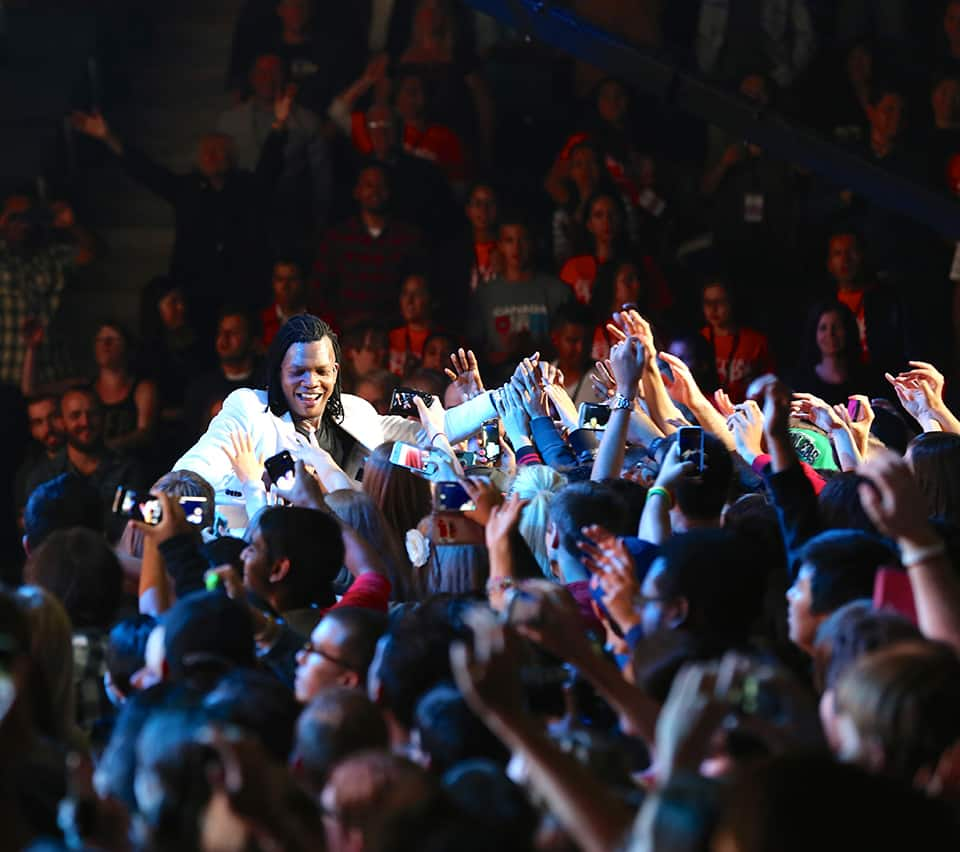 Michael Tait in crowd