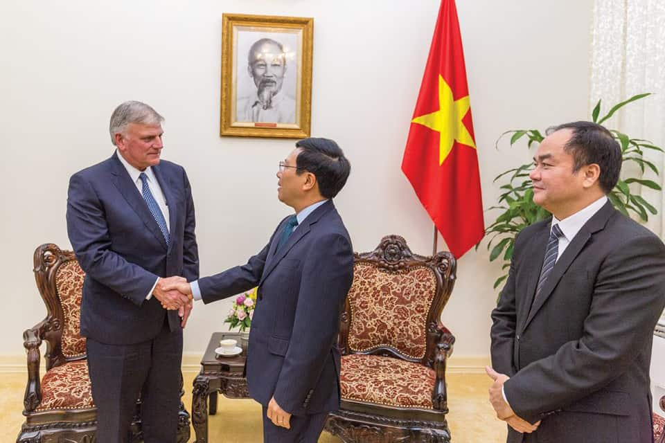 Vietnam's deputy prime minister welcomed Franklin Graham to the country.