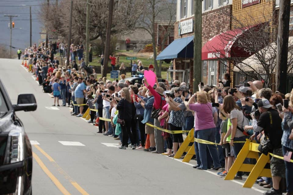 Billy Graham used to ride his horse into downtown Black Mountain, North Carolina. On Saturday, the entire downtown area was crowded with people paying their respects.