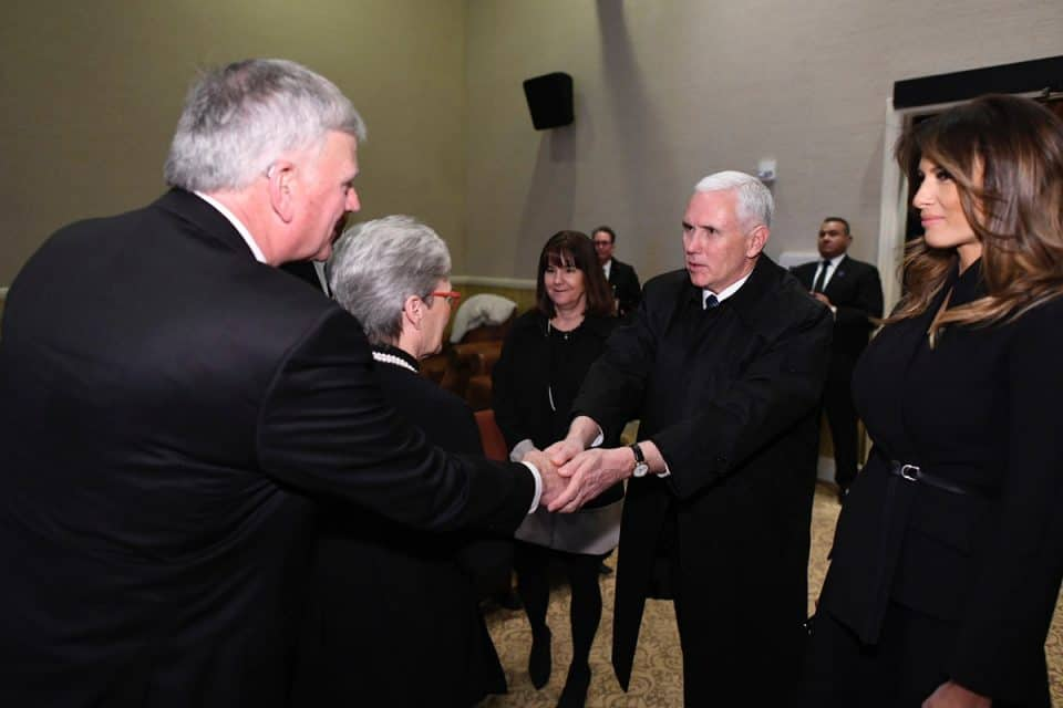 Vice President Mike Pence expresses his condolences to Franklin Graham.