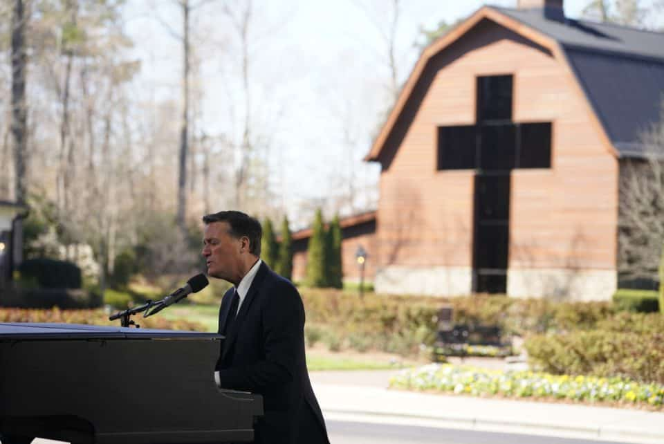 "Michael W. Smith played in numerous Billy Graham Crusades throughout the years including his final one in New York (2005). On Friday, the three-time Grammy Award winner followed the time of family sharing with his song ""Above All."""