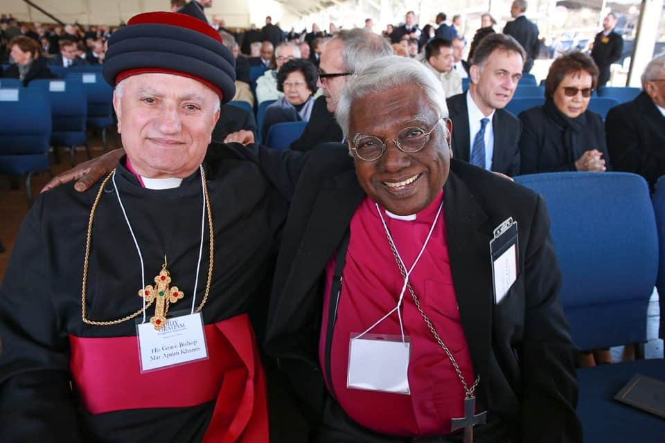 The global nature of Billy Graham's ministry was evident in the faces of his funeral guests. More than 50 countries were represented under the tent, and speakers included evangelists and pastors from North America, the Middle East, Europe, Africa and Asia.