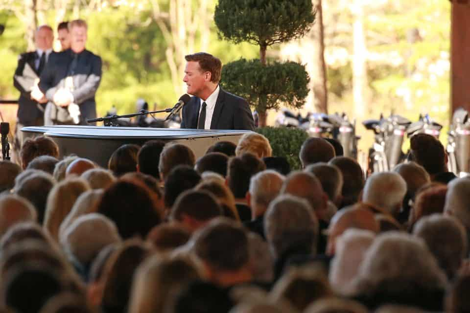 Michael W. Smith performed at the funeral service on Friday as well as Wednesday's service in the U.S. Capitol in Washington, D.C.