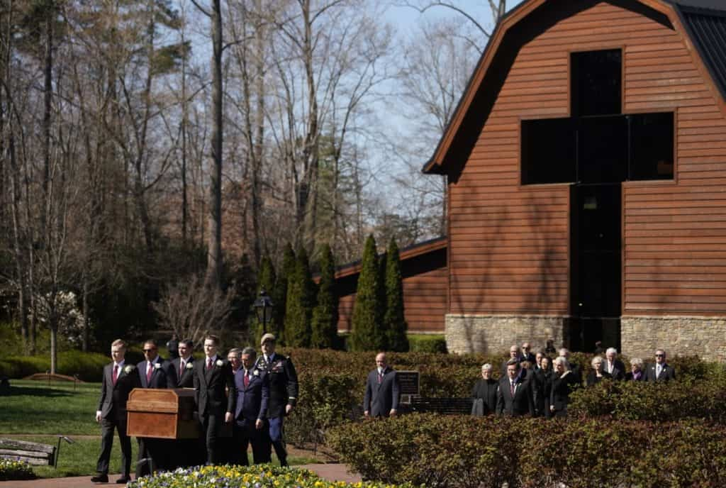 Billy Graham's funeral service was held on Friday, March 2, 2018, on the grounds of the Billy Graham Library.