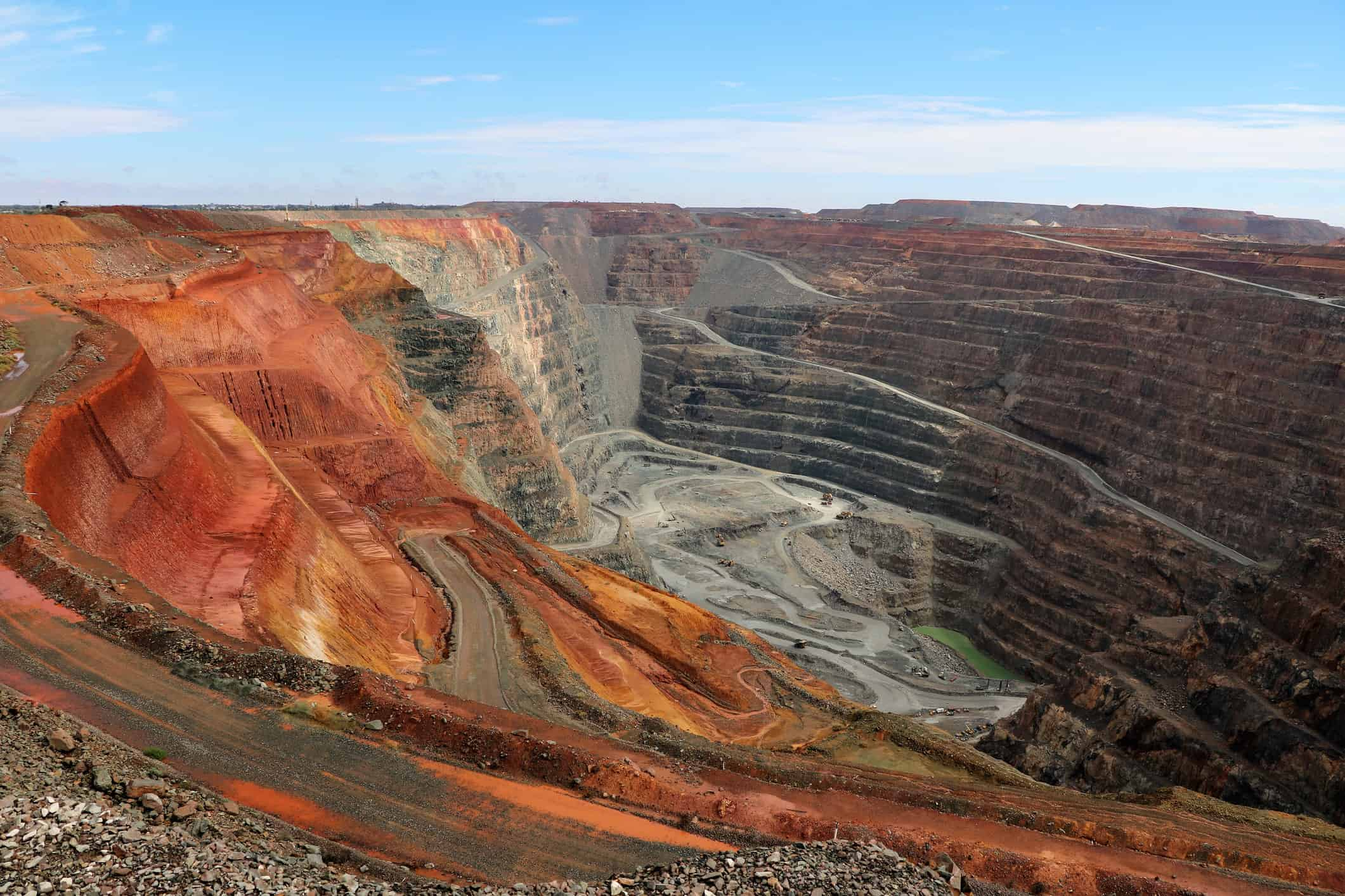 The Super Pit located in Kalgoorlie is the largest open-pit gold mine in Australia and one of the largest in the world.
