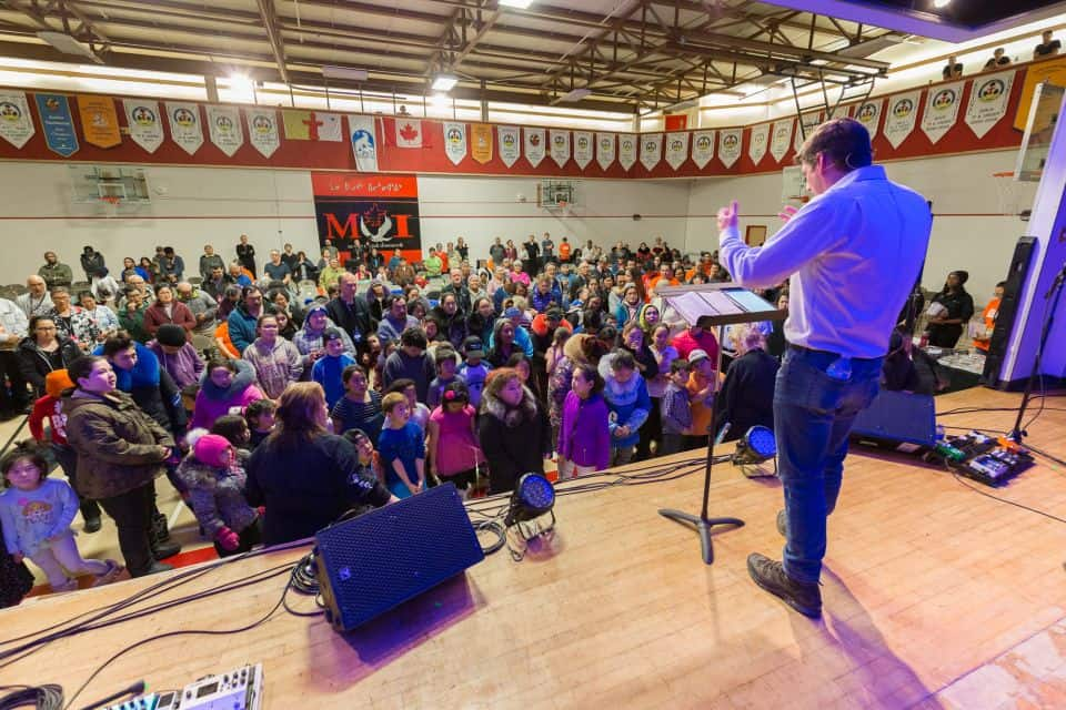 """God has a plan and purpose for your life,"" Will Graham told the crowd in Rankin Inlet."