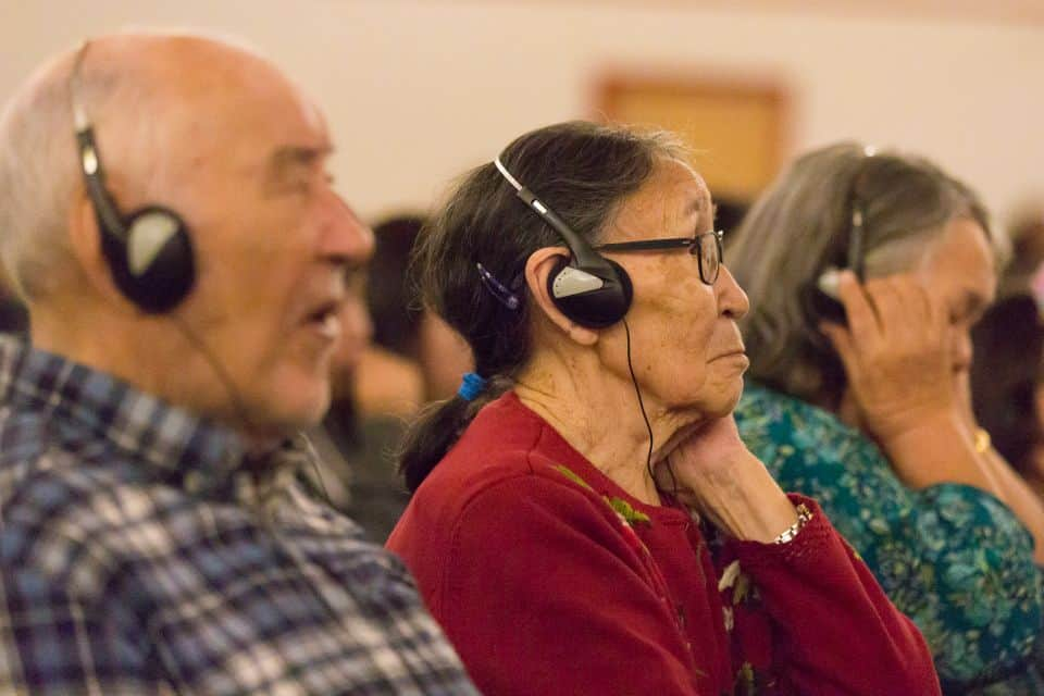 Will's sermons was simultaneously translated live via headset into the local language of Inuktitut.