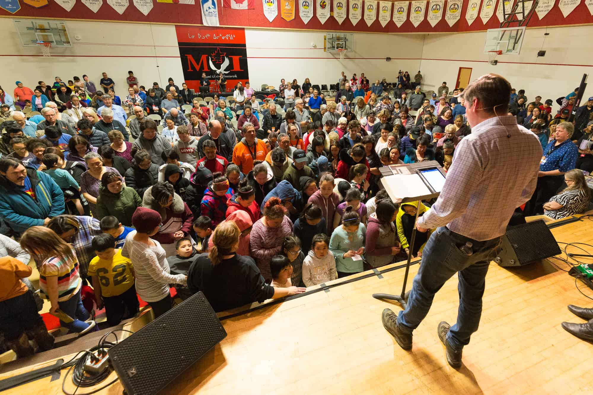 Will Graham, grandson of Billy Graham, shared a Gospel message at the Celebration of Hope in Rankin Inlet, Nunavut