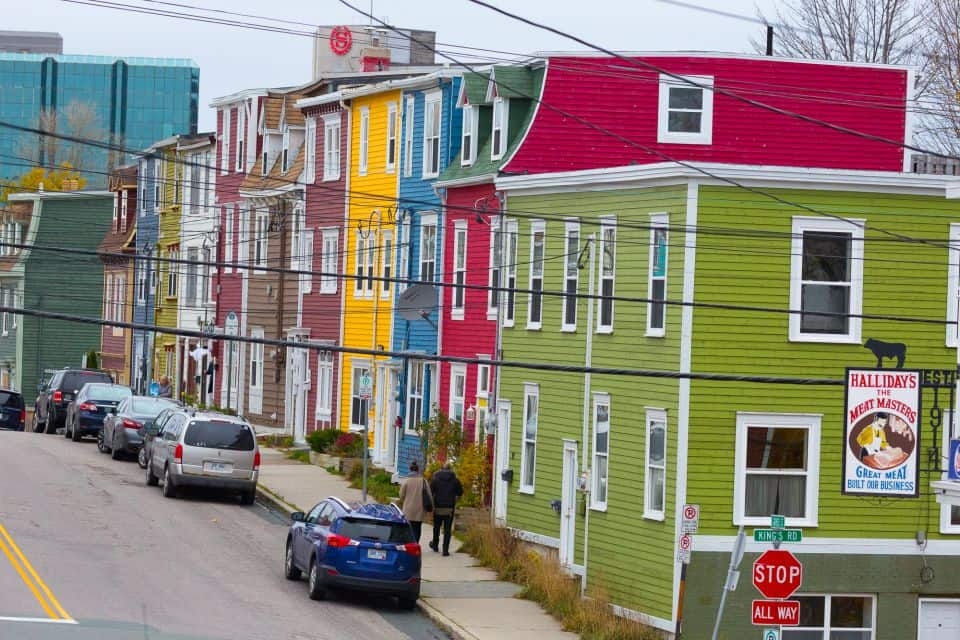 St. John's is known for the vibrantly colored row houses that help give the city its distinctive character.