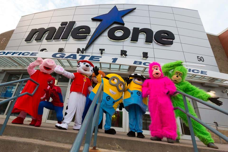 Mile One Centre is an indoor arena and entertainment venue located in downtown St. John's, Newfoundland and Labrador. The centre's name comes from it being located at the beginning of the Trans-Canada Highway.