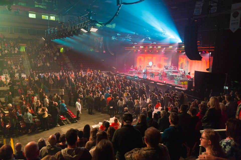 Thousands came out to the Celebration at Mile One Centre to hear Will Graham share a message of hope.