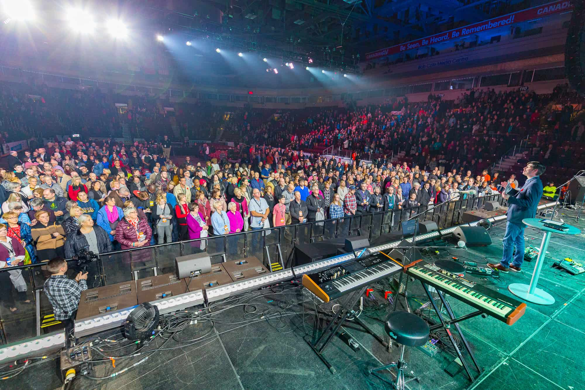 Thousands made their way to the Mile One Centre for a time of worship and to hear a message of hope from Will Graham.