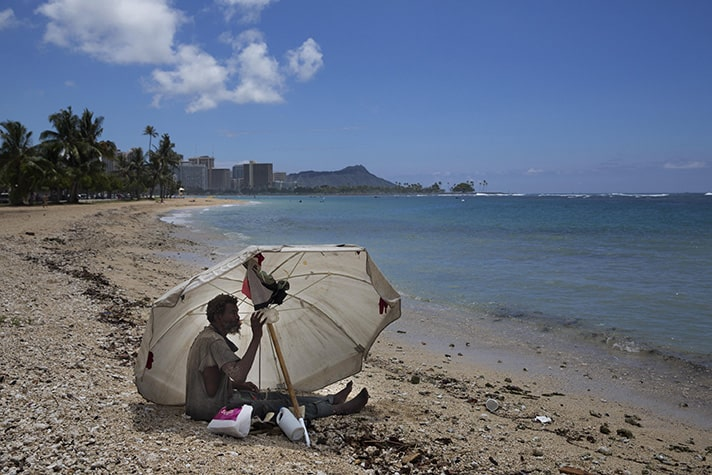 Though it's called a paradise, Kaua`i has its own problems, including a high cost of living for natives. There is also a high number of homeless people in Hawaii.