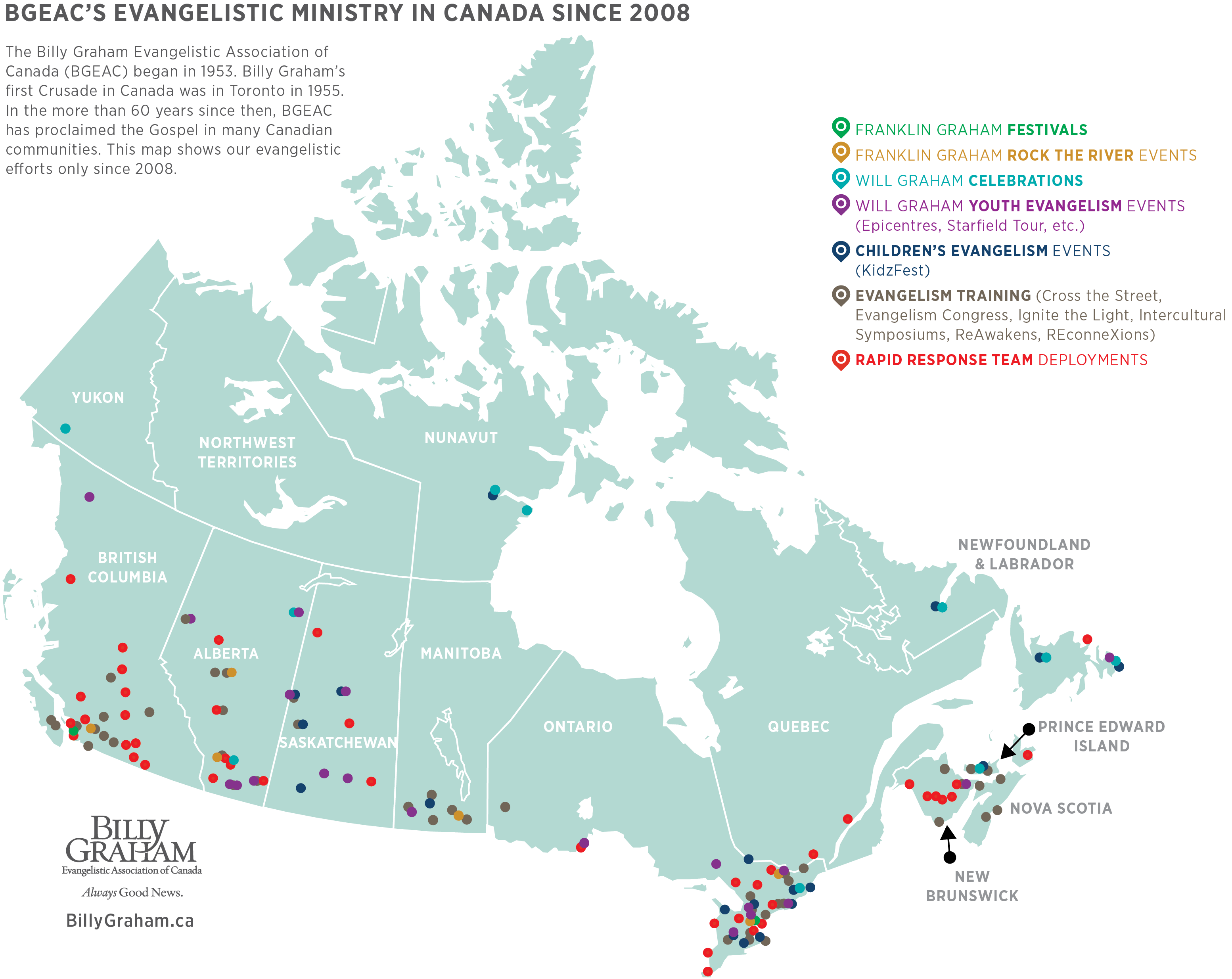Canadian Ministry Map - The Billy Graham Evangelistic ... on blank canada map, canada physical map, european map, french map, uk map, prince edward island map, costa rican map, serb map, lakes in canada map, washington map, united states map, vancouver canada map, alaska map, british columbia map, p.e.i map, chinese map, banff canada map, canada provinces map, canda map, american map,