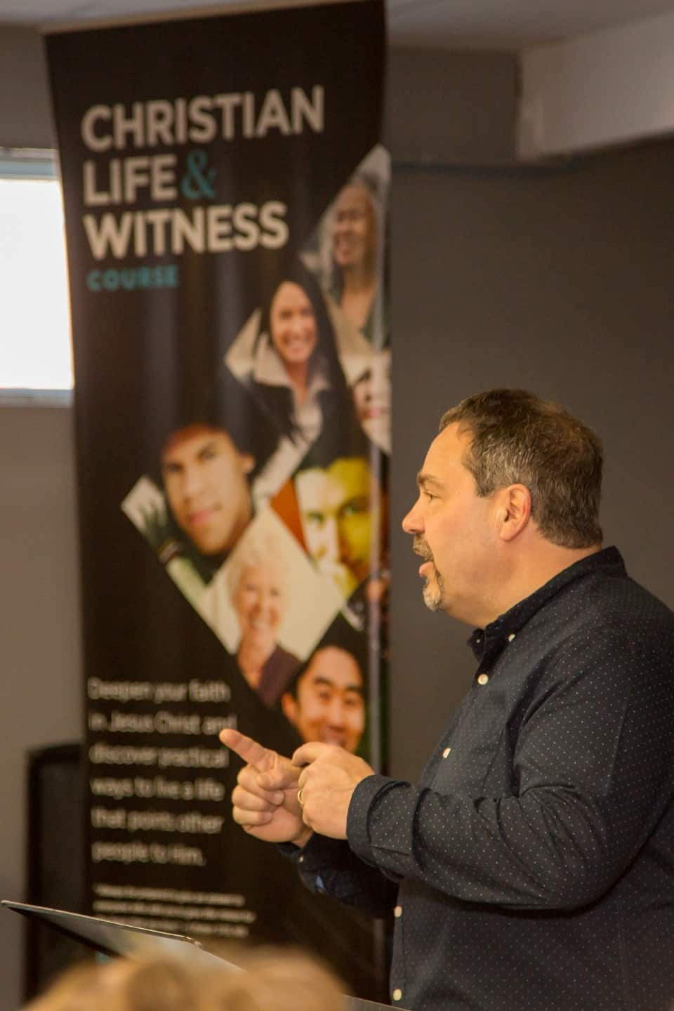 Dan Toner, director of the Quinte Celebration of Hope with Will Graham, was one of the Christian Life and Witness Course (CLWC) teachers.