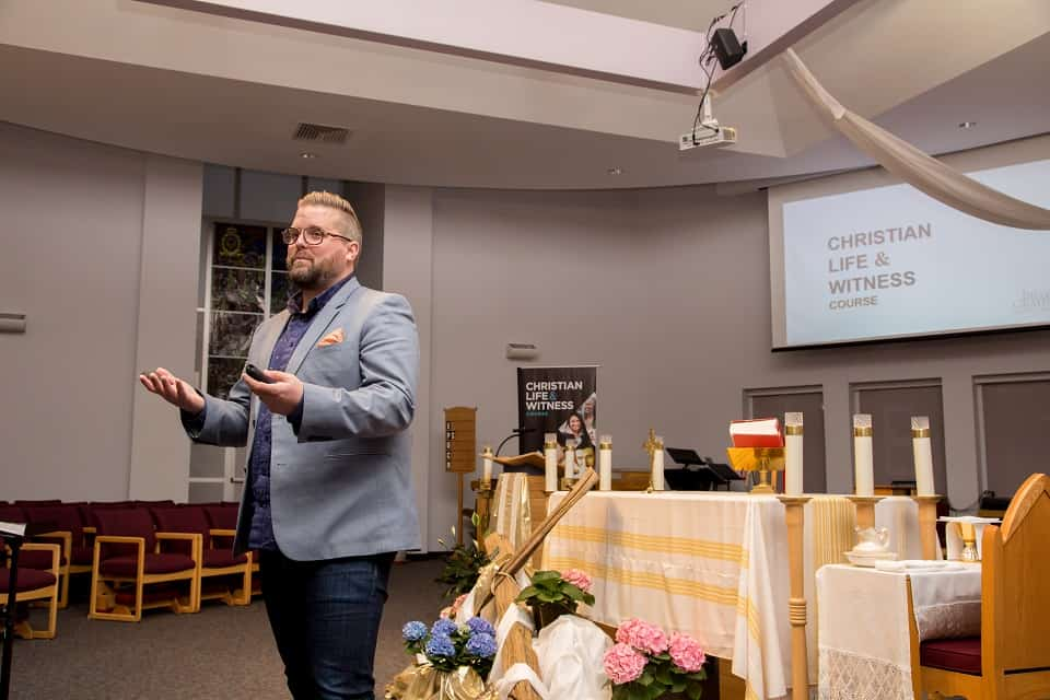 Billy Graham Evangelistic Association Project Manager Chris King helped CLWC attendees learn how to quickly and simply tell their stories of faith.