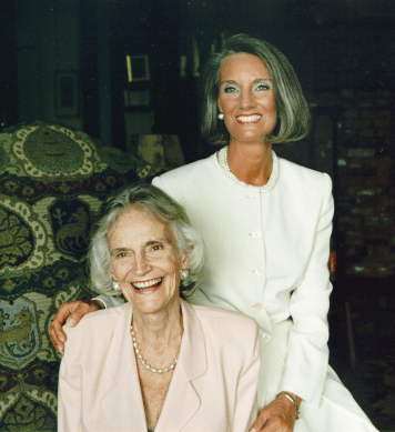 Ruth Bell Graham with her second daughter, Ann Graham Lotz.