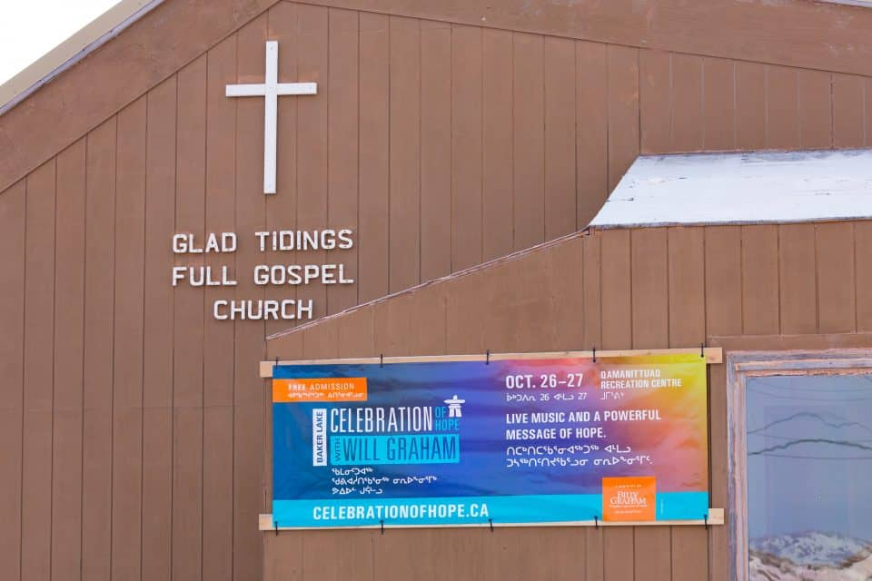 Glad Tidings is one of three churches in Baker Lake that have united in prayer together ahead of this weekend's Celebration. Would you in turn please pray for these churches—Anglican, Glad Tidings and Roman Catholic—that will be responsible for following up and discipling new believers in the area?