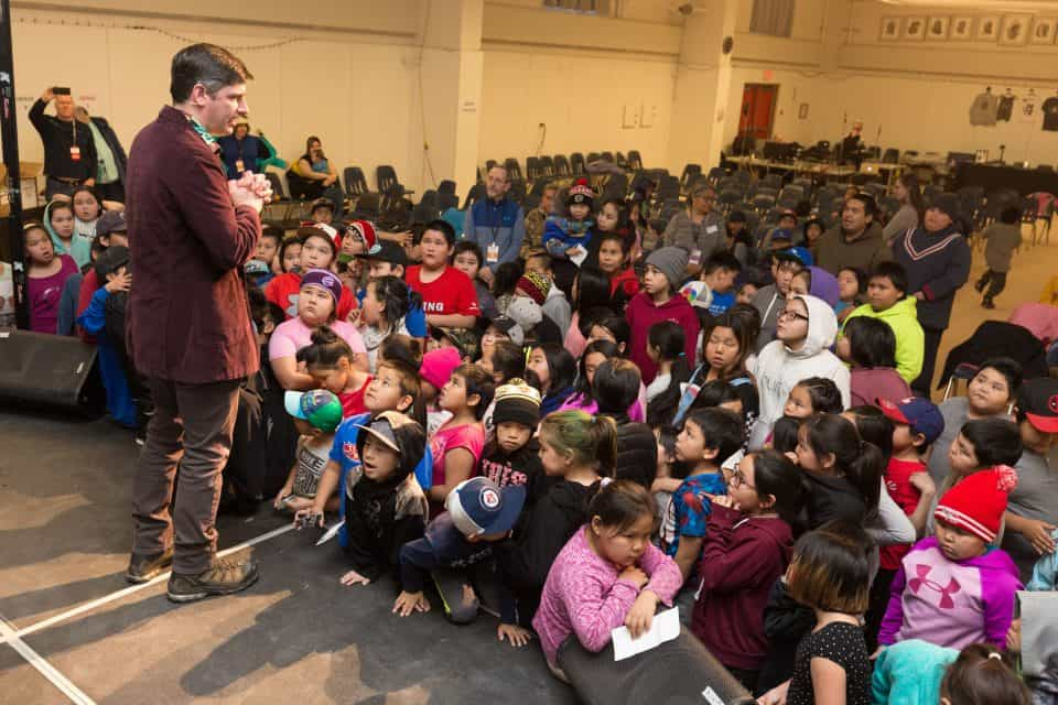 On Friday, Will Graham held a presentation specifically for the area's youth.