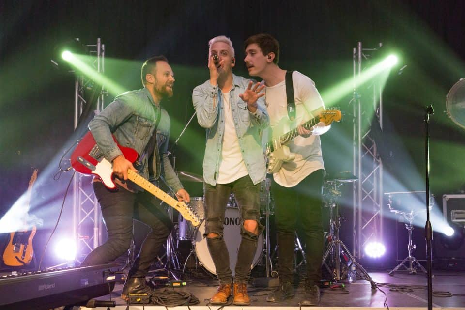 The Canadian Christian group The Color performed Saturday night and will again on Sunday.