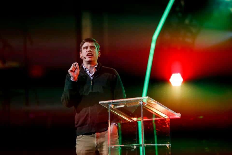 Evangelist Will Graham shares message of hope at KidzFest in Belleville, Ontario.