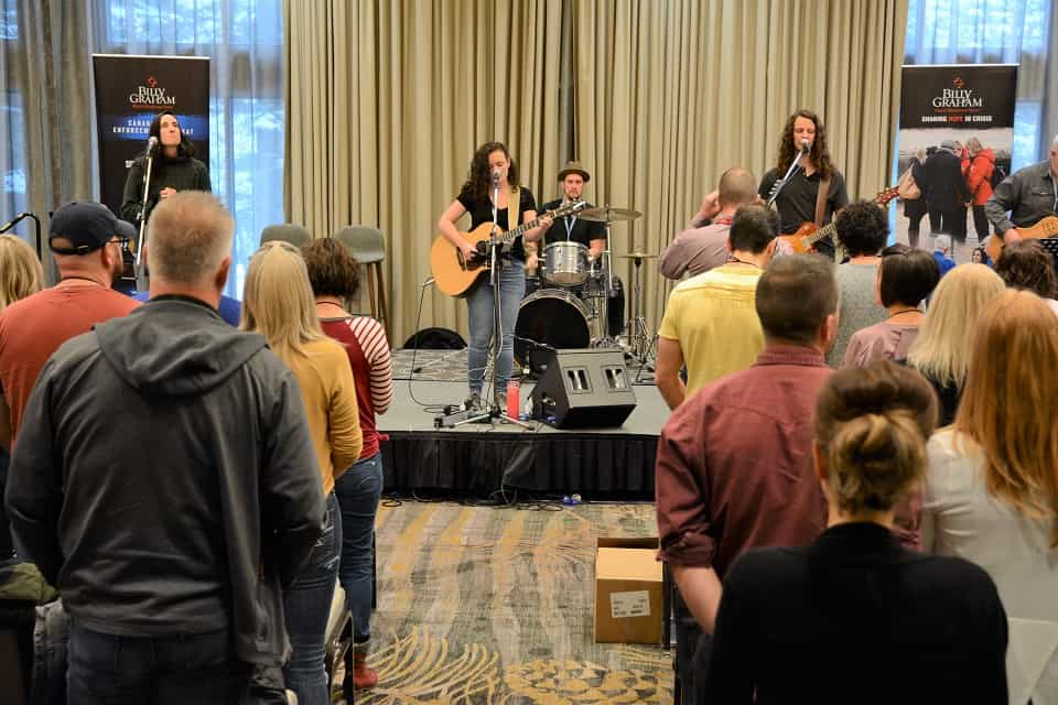 Worship was a key part of the Canadian Law Enforcement Retreat, preparing everyone's hearts for what God wanted to tell them.