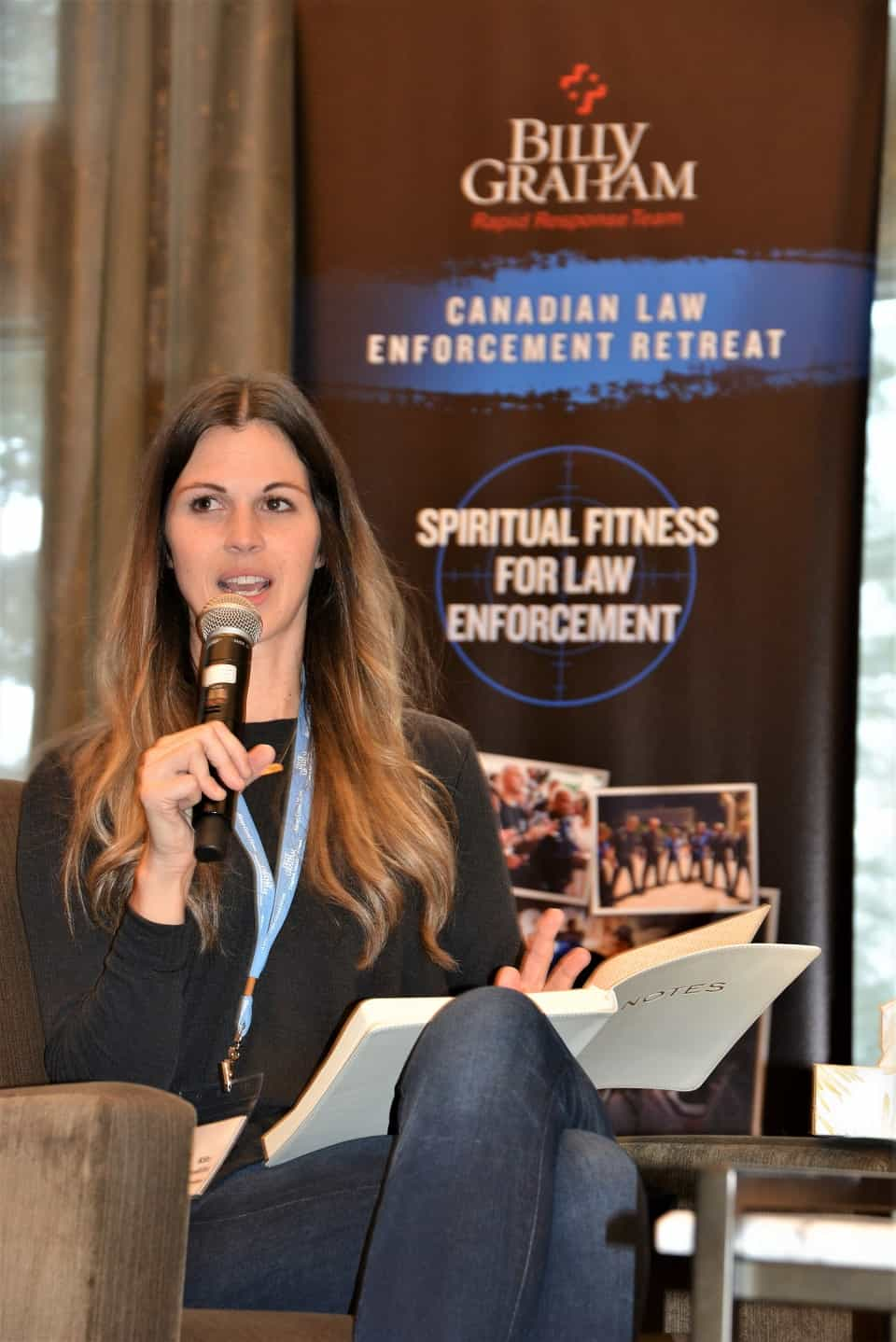 Kate Hawkins described the effects of her anxiety discorder on her marriage to husband Jamie (an RCMP officer in New Brunswick) and their family life. We praise God that Kate found medication which helped her tremendously.