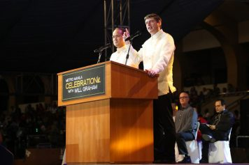 In February, Will Graham shared the Gospel with more than 145,000 people at the eight-day Greater Pangasinan-Metro Manila Celebration in the Philippines.